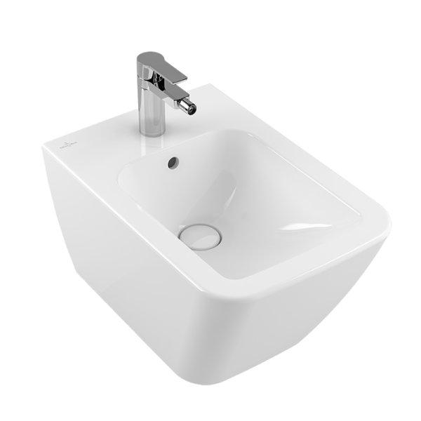 Второе изображение товара Биде Villeroy & Boch Finion подвесное Альпийский белый CeramicPlus 446500R1