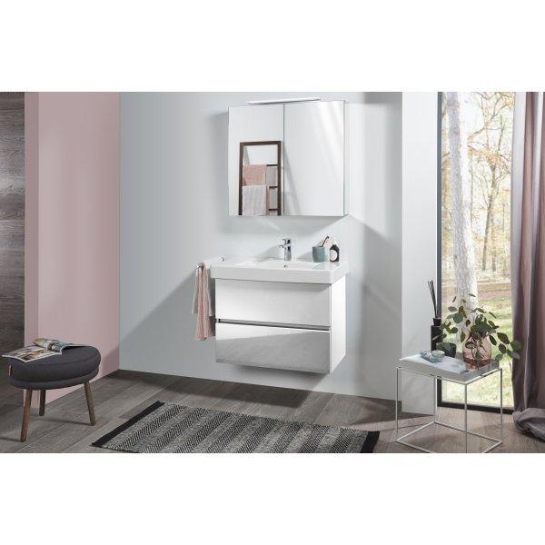 Второе изображение товара Комплект мебели с зеркальным шкафом 80 см Villeroy & Boch Pure SPUR03DHR1