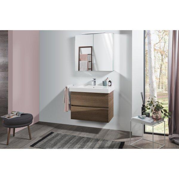 Второе изображение товара Комплект мебели с зеркальным шкафом 80 см Villeroy & Boch Pure SPUR03VHR1
