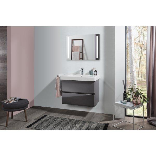 Второе изображение товара Комплект мебели с зеркалом 80 см Villeroy & Boch Pure SPUR00FPR1