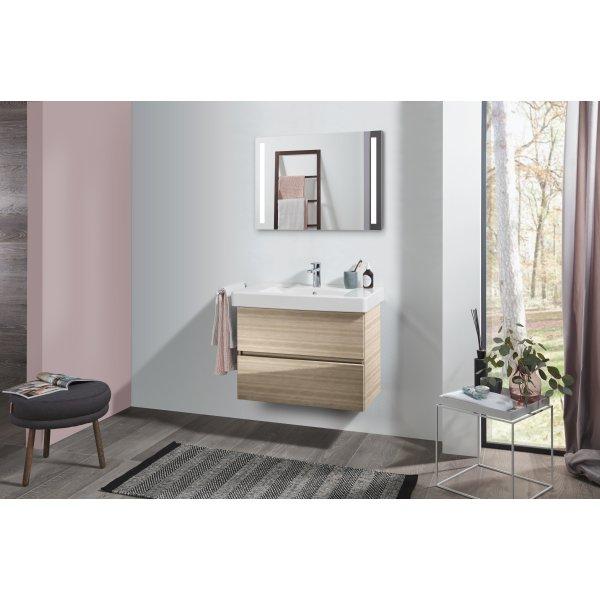 Второе изображение товара Комплект мебели с зеркалом 80 см Villeroy & Boch Pure SPUR00PNR1