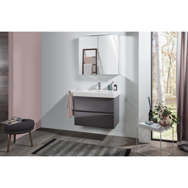 Второе изображение товара Комплект мебели с зеркальным шкафом 80 см Villeroy & Boch Pure SPUR03FPR1