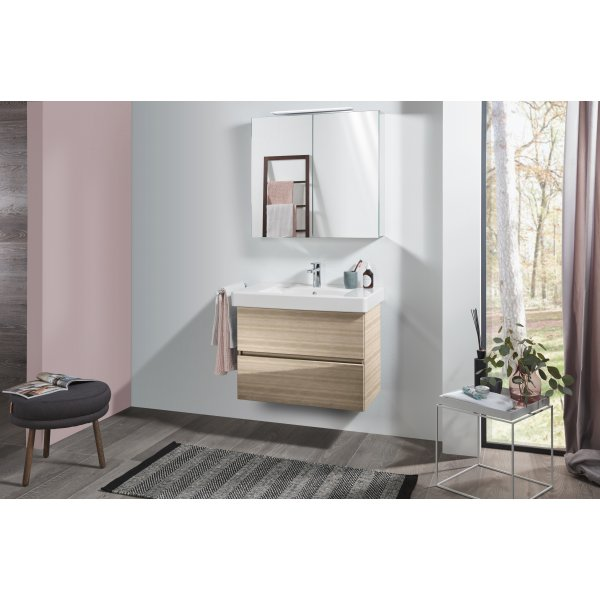 Второе изображение товара Комплект мебели с зеркальным шкафом 80 см Villeroy & Boch Pure SPUR03PNR1