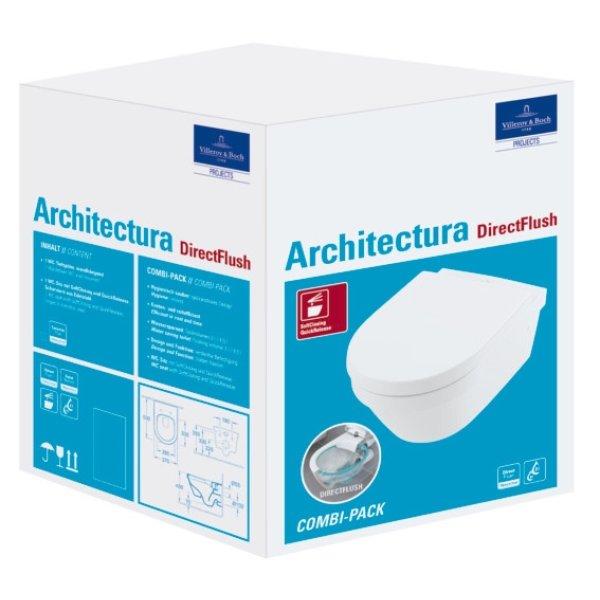 Второе изображение товара Унитаз подвесной с сиденьем Villeroy & Boch Architectura CeramicPlus 4694HRR1