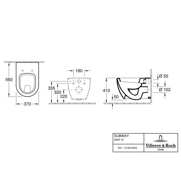 Второе изображение товара Унитаз подвесной Villeroy & Boch Subway CeramicPlus 660310R1