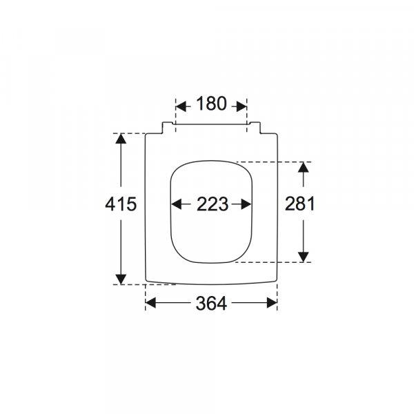 Второе изображение товара Сиденье для унитаза Villeroy & Boch Memento 2.0 с крышкой SoftClosing QuickRelease 8M24S1S5