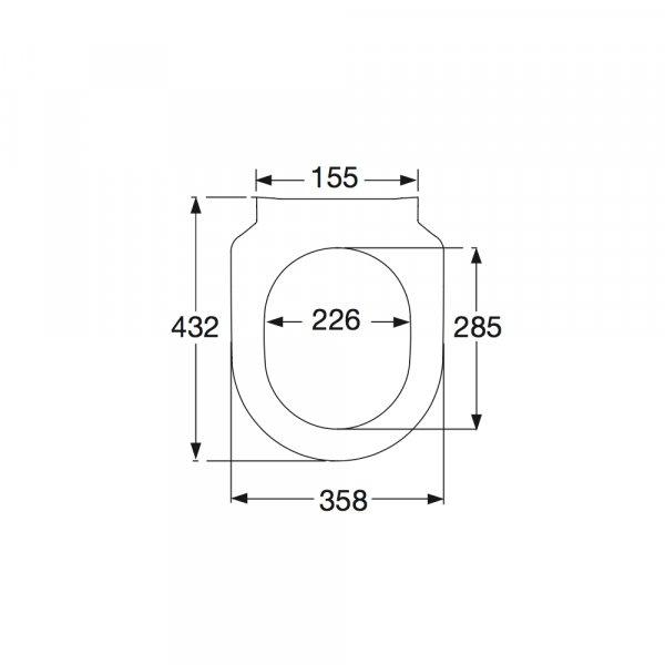 Второе изображение товара Сиденье для унитаза SlimSeat Villeroy & Boch Subway с крышкой 9M656101
