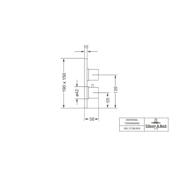 Второе изображение товара Термостат встраиваемый на 1 выход Villeroy & Boch TVD00065200061