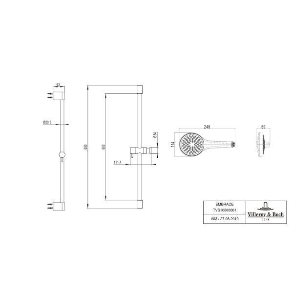 Второе изображение товара Душевой комплект Villeroy & Boch Embrace PLUS TVS1086000161