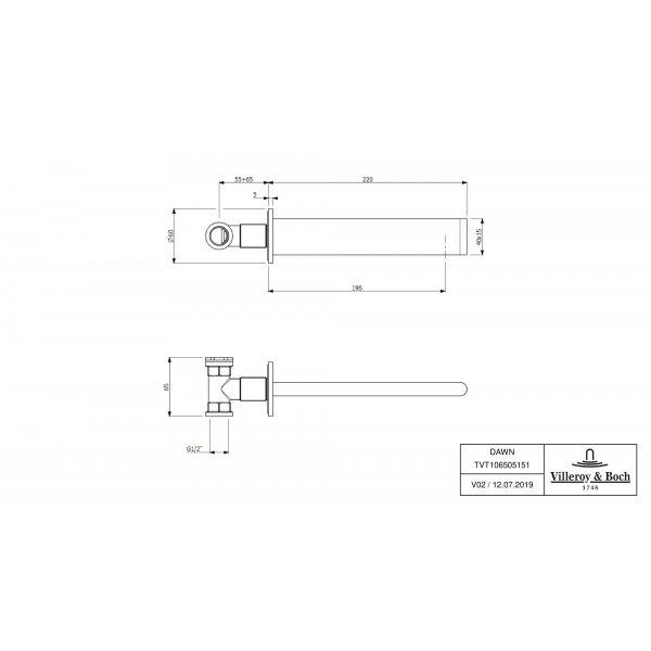 Второе изображение товара Излив Villeroy & Boch Dawn для ванны TVT10650515161