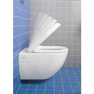 Сиденье для унитаза SlimSeat Villeroy & Boch Avento с крышкой SoftClosing QuickRelease 9M87S101