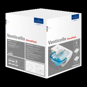 Унитаз Villeroy & Boch Venticello безободковый подвесной с сиденьем 4611RLR1