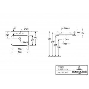 Раковина Villeroy & Boch Finion 47 x 60 см CeramicPlus 41686LR1