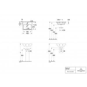 Раковина компактная Villeroy & Boch Subway 3.0 45 x 37 см 4370FK01
