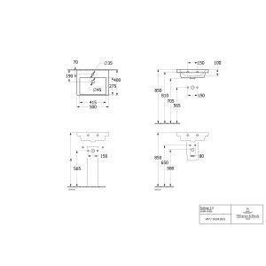 Раковина компактная Villeroy & Boch Subway 3.0 50 x 40 см 4370FF01