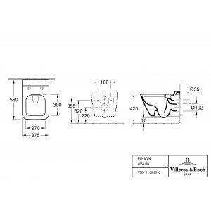 Унитаз подвесной Villeroy & Boch Finion CeramicPlus 4664R0R1