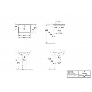 Раковина Villeroy & Boch Avento 37 x 55 см 4A005501
