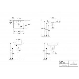 Раковина Villeroy & Boch O.novo 55 x 46 см CeramicPlus 4A4156T2