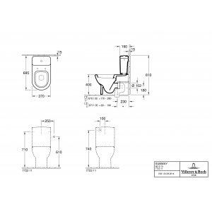 Унитаз-компакт Villeroy & Boch Subway (без сливного бачка и сиденья) 66101001