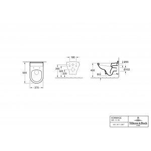 Унитаз подвесной Villeroy & Boch Hommage CeramicPlus 6661B0R1