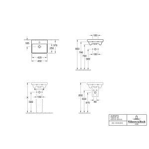 Раковина Villeroy & Boch Avento 37 x 45 см 73584501