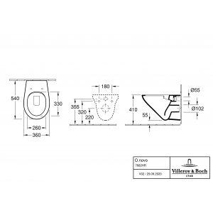 Унитаз подвесной с сиденьем Villeroy & Boch O.novo 7682HR01