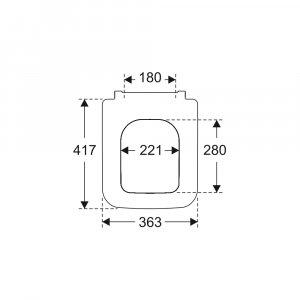 Сиденье для унитаза Villeroy & Boch Venticello с крышкой SoftClosing QuickRelease 8M22S101