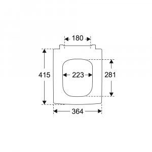 Сиденье для унитаза Villeroy & Boch Memento 2.0 с крышкой SoftClosing QuickRelease 8M24S1S5