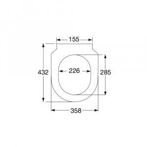 Сиденье для унитаза SlimSeat Villeroy & Boch Subway с крышкой SoftClosing QuickRelease 9M65S101