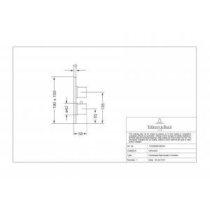 Термостат встраиваемый на 2 выхода Villeroy & Boch TVD00065300061