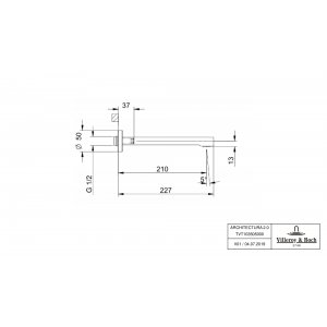 Излив Villeroy & Boch Architectura для ванны TVT10350500061