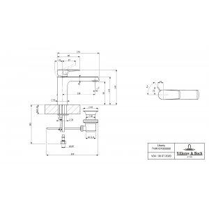 Смеситель для раковины Villeroy & Boch Liberty с донным клапаном TVW10700300061