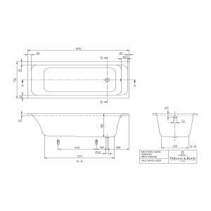 Ванна Villeroy & Boch Architectura 170 x 75 см акриловая UBA170ARA2V-01