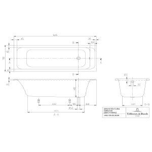 Ванна Villeroy & Boch Architectura 170 x 70 см акриловая UBA177ARA2V-01