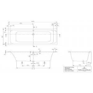Ванна Villeroy & Boch Architectura 170 x 80 см акриловая UBA178ARA2V-01
