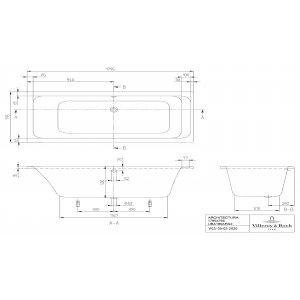 Ванна Villeroy & Boch Architectura 180 x 80 см акриловая UBA180ARA2V-01