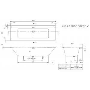 Ванна Villeroy & Boch Collaro 180 x 80 см акриловая UBA180COR2DV-01