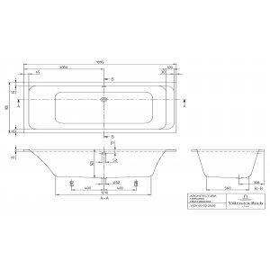 Ванна Villeroy & Boch Architectura 190 x 95 см акриловая UBA199ARA2V-01