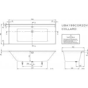 Ванна Villeroy & Boch Collaro 190 x 90 см акриловая UBA199COR2DV-01