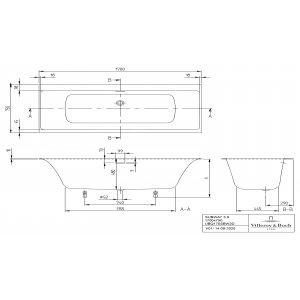 Ванна Villeroy & Boch Subway 3.0 170 x 75 см квариловая UBQ170SBW2DV-01