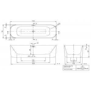 Ванна Villeroy & Boch Finion 170 x 70 см квариловая UBQ177FIN7N100V101