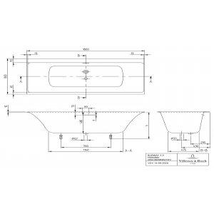 Ванна Villeroy & Boch Subway 3.0 180 x 80 см квариловая UBQ180SBW2TDV-01