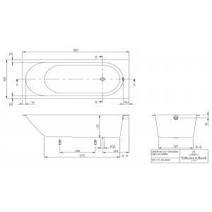 Ванна Villeroy & Boch Oberon 2.0 180х80 см квариловая UBQ181OBR2DV-01