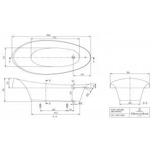 Ванна Villeroy & Boch Aveo 190 x 90 см квариловая UBQ194AVE7V-01