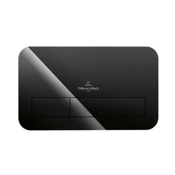 Клавиша смыва Villeroy & Boch ViConnect стеклянная, цвет глянцевый черный 922400RB
