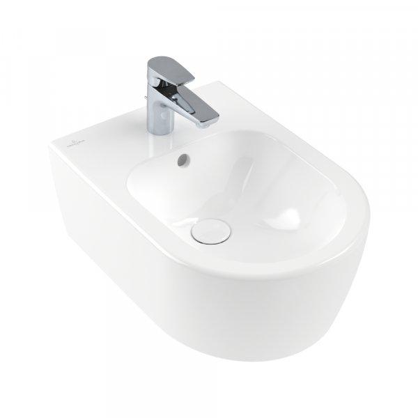 Биде Villeroy & Boch Avento подвесное Альпийский белый CeramicPlus 540500R1